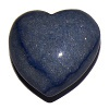 Srdce (hmatka) - modrý avanturín