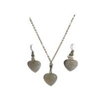 Náhrdelník a náušnice - srdce
