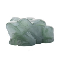 Žába - figurka zelený avanturín