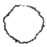 Hematit - náhrdelník z kamínků 45 cm