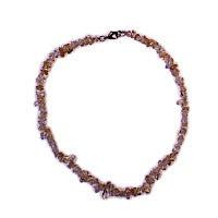 Citrín - náhrdelník z kamínků 45 cm
