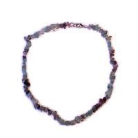 Fluorit - náhrdelník z kamínků 45 cm