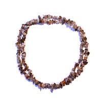 Achát - náhrdelník z kamínků 45 cm
