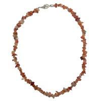 Karneol - náhrdelník z kamínků 45 cm