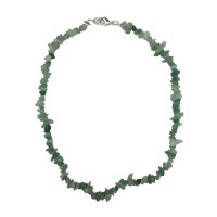 Zelený avanturín - náhrdelník z kamínků 45 cm