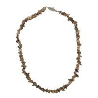 Jaspis obrázkový - náhrdelník z kamínků 45 cm