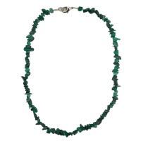 Malachit - náhrdelník z kamínků 45 cm