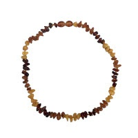 Jantar - dětský náhrdelník z kamínků 35 cm