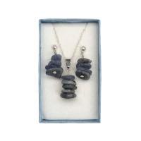 Kyanit - náhrdelník a náušnice v krabičce