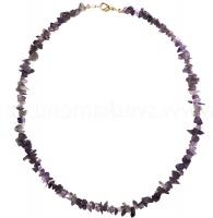 Ametyst - náhrdelník z kamínků 45 cm