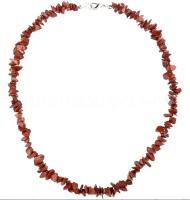 Červený jaspis - náhrdelník z kamínků 45 cm