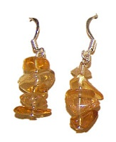 Citrín - náušnice z drobných kamínků