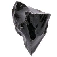 Obsidián černý - surový menší