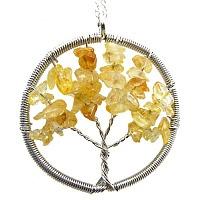 Přívěsek strom života Citrín