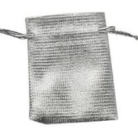 Stříbrný dárkový sáček