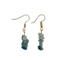 Akvamarín - náušnice z drobných kamínků