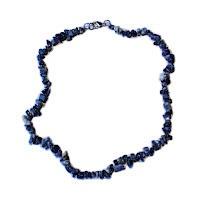 Sodalit - náhrdelník z kamínků 45 cm