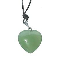 Avanturín zelený - přívěsek srdce