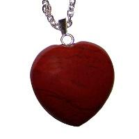 Červený jaspis (brekcie) - přívěsek srdce velké (poslední kus)