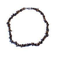 Tygří oko - náhrdelník z kamínků 45 cm